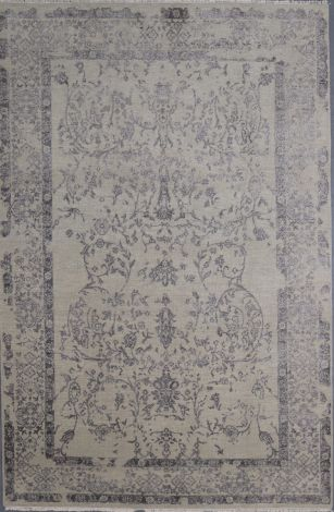 Silver Ivory Wool and silk Area 289 x 184 cm