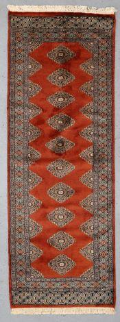 NZ Wool Red Velvet Jaldar 220 x 79 cm