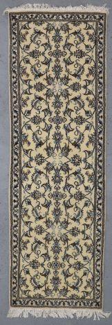 140842  Cream Floral Nain runner 240 x 78 cm