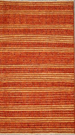 Profile Gabbeh wool rug  Retro Orange 153 x 89 cm
