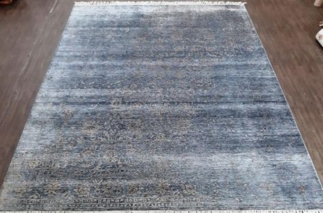 Transitional NZ Wool and Silk Area Rug 300 x 238 cm