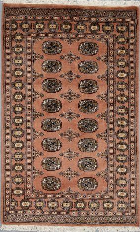 Burnt Coral Rug Bokhara NZ Wool. 150 x 93 cm