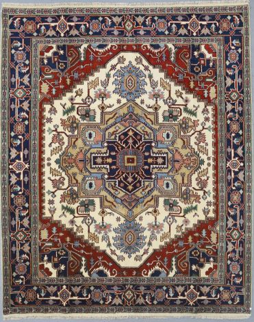 SOLD Indian Heriz hand knotted Rug 298 x 240 cm