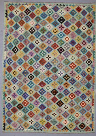 Afghan Squares Killim 340 x 245 cm