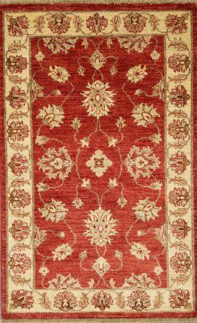 Choobi Burnt Orange/Red fine  handknotted Wool Rug     140 x 91 cm