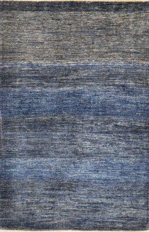 Blurry Stripes Indigo Gabbeh rug 152 x 103 cm
