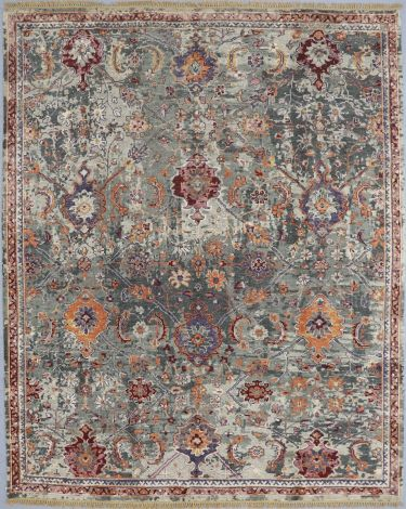 Oushak Transitional Wool Rug 292 x 242 cm