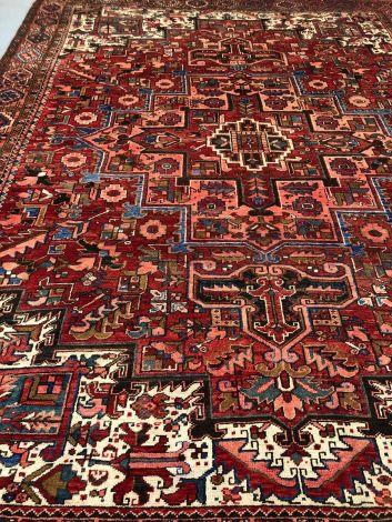 Tribal Persian Heriz Rug Red 403 x 300 cm
