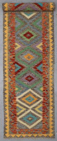 5041 Yellow Border Choobi Killim 403 x 80 cm