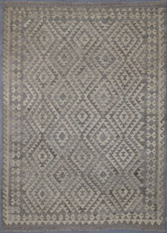 Grey and Beige Natural Tribal Rug 237 x 173 cm