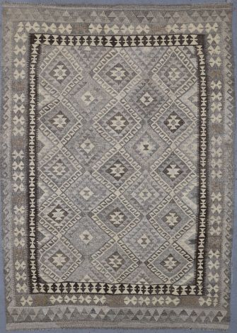 Natural Wool Geometric Killim 250 x 180 cm