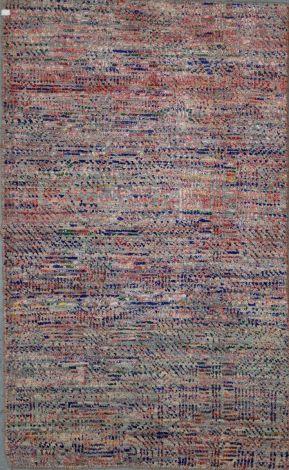 Modern wool and silk Rug  154 x  82 cm