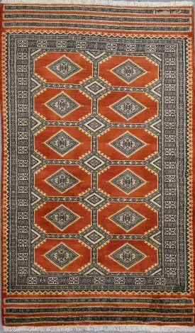 Jaldar Warm Rust  NZ Wool 155 x 93 cm