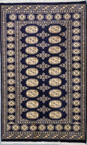 Bokhara Blue Velvet 153 x  95 cm