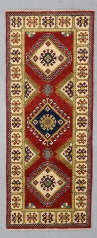 Kazak Hall Runner, small 196 x 76 cm