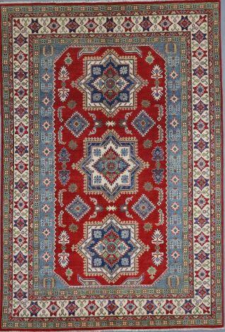SOLD Bold Pattern Tribal Kazak Rug 303 x 205 cm