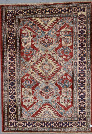 Tribal Accent Super Kazak Rug 133 x 95 cm