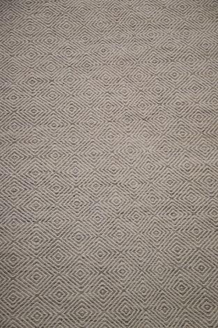 Diamond Flatweave Rug  White/Natural 290 x 200 cm