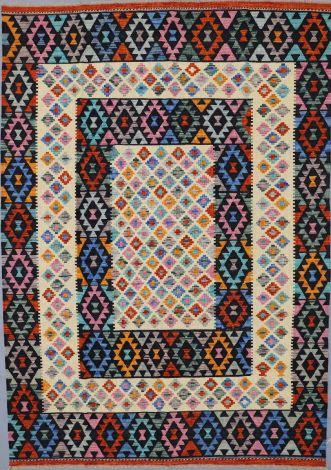 Black Border Choobi Killim 296 x 209 cm