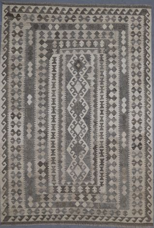 Hand made wool tribal  Killim 243 x 169 cm