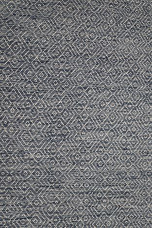 Grey Blue White Wool Reversible flatweave  340 x 250 cm
