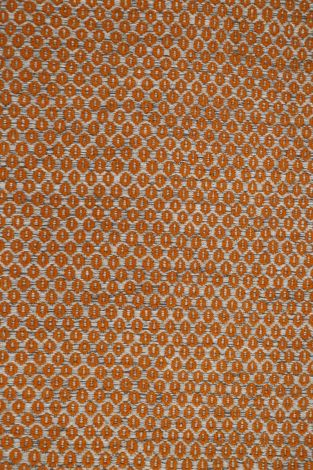 Star Natural and Orange Wool hand loomed rug 290 x 200 cm