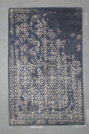 Grey and Dusty Indigo Transitional Rug  244 x 154 cm